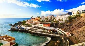Tenerife holidays - pictorial Puerto di Santiago, Canary islands Stock Photos