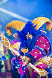 TENERIFE, IL 20 GENNAIO: Gruppi di carnevale e caratteri costumed Immagini Stock Libere da Diritti