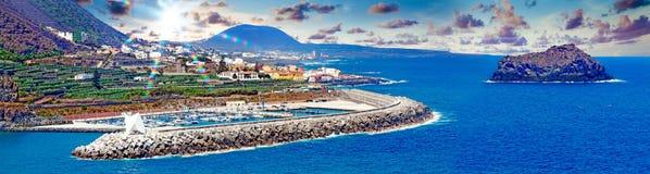 Tenerife island scenery.Ocean and beautiful stone,Garachico beac Royalty Free Stock Images
