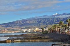 Tenerife island, with Teide volcano. View from Tenerife island, Canary Islands, Spain with Teide volcano mountain royalty free stock images