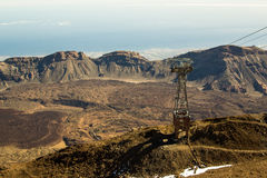 Tenerife Island. The view from Teide volcano Royalty Free Stock Photos