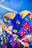 TENERIFE, 20 JANUARI: Carnaval-Groep en gekostumeerde karakters Royalty-vrije Stock Afbeeldingen