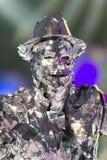 TENERIFE, 20 JANUARI: Carnaval-Groep en gekostumeerde karakters Royalty-vrije Stock Afbeelding
