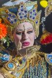 TENERIFE, 20 JANUARI: Carnaval-Groep en gekostumeerde karakters Royalty-vrije Stock Foto