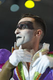 TENERIFE JANUARI 20: Karnevalgrupper och kostymerade tecken Arkivbilder
