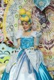 TENERIFE JANUARI 24: Tecken och grupper i karnevalet Royaltyfria Foton