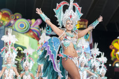 TENERIFE, JANUARY 30: Characters and Groups in The carnival. Stock Photos