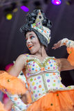 TENERIFE, JANUARY 30: Characters and Groups in The carnival Stock Photos