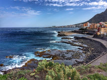 Tenerife, kust met steden Stock Fotografie