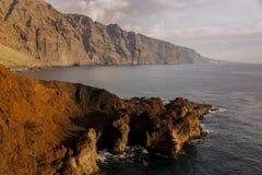 Tenerife landscape at sunset Royalty Free Stock Images