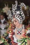 TENERIFE, LUTY 25: Charaktery i grupy w karnawale Obrazy Royalty Free