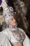 TENERIFE, LUTY 25: Charaktery i grupy w karnawale Obraz Royalty Free