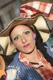 TENERIFE, LUTY 25: Charaktery i grupy w karnawale Zdjęcie Stock