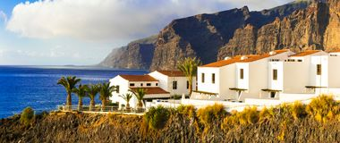 Tenerife - luxury apartments in Los Gigantes area. Canary island Stock Images