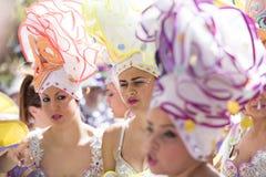 TENERIFE, MARZEC 05: Charaktery i grupy w karnawale Zdjęcie Royalty Free