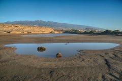 Tenerife, Medano, Maria Perla Medano, lago interno Immagini Stock