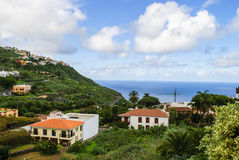Tenerife. Mediterranean buildings on the canary island - ocean on the horizon Royalty Free Stock Photography