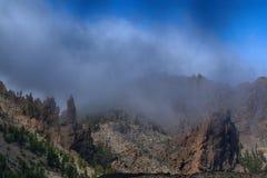 Tenerife, Mening rond Boca Tauce, zet Teide op stock afbeeldingen