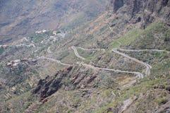 Tenerife Mountain Road Royalty Free Stock Photos