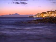 Tenerife Nightfall Royalty Free Stock Photography