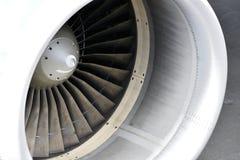TENERIFE, O 4 DE DEZEMBRO: Detalhe de um motor de turbofan de um Airbus A319-112, o 4 de dezembro 2018, canário de Tenerife são s fotografia de stock royalty free