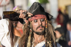 TENERIFE, O 25 DE FEVEREIRO: Caráteres e grupos no carnaval Fotos de Stock