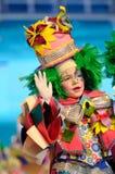 TENERIFE, O 23 DE JANEIRO: Caráteres e grupos no carnaval Imagens de Stock Royalty Free