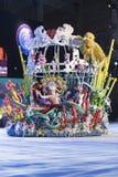 TENERIFE, O 24 DE JANEIRO: Caráteres e grupos no carnaval Imagem de Stock