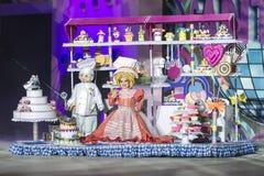TENERIFE, O 24 DE JANEIRO: Caráteres e grupos no carnaval Imagens de Stock Royalty Free
