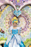TENERIFE, O 24 DE JANEIRO: Caráteres e grupos no carnaval Fotografia de Stock