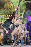 TENERIFE, O 20 DE JANEIRO: Grupos do carnaval e caráteres trajados Imagens de Stock