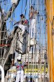 TENERIFE, O 13 DE SETEMBRO: O navio de escola mexicano entrou no porto o Foto de Stock Royalty Free