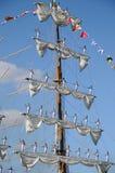 TENERIFE, O 13 DE SETEMBRO: O navio de escola mexicano entrou no porto o Imagem de Stock Royalty Free