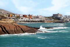 Tenerife ocean and city Las Americas Canary Islands Royalty Free Stock Photography
