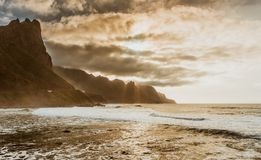 Tenerife ocean sunset canary islands Stock Photography