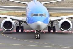 TENERIFE OCT 13: Plane to land. October 13, 2017, Tenerife Cana Stock Photography