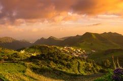 Tenerife på solnedgång Arkivfoton