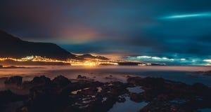Tenerife plaża przy nocą Zdjęcie Stock