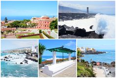 Tenerife postcard collage Royalty Free Stock Photos