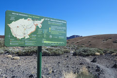 Tenerife que sigue el mapa Fotografía de archivo