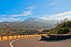 Tenerife road Royalty Free Stock Images