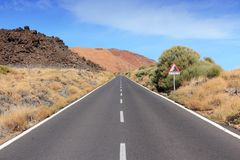Tenerife road Royalty Free Stock Photo