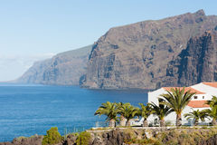 Tenerife rocks. Giant rock formations in small spanish town Los Gigantes Royalty Free Stock Image