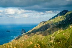 Tenerife rocks and mountains Royalty Free Stock Photo