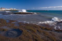 Tenerife rocky coast Stock Images