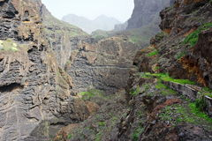 Tenerife rocky mountains and valley Royalty Free Stock Photo