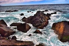 Tenerife. Sea rocks shoreline rocky water ocean Royalty Free Stock Images