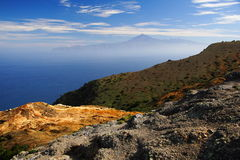 Tenerife seen from Gomera Royalty Free Stock Photos