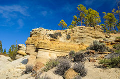 Tenerife: soil erosion. Eroded landscape of isle of Tenerife Stock Photography