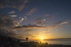 Tenerife solnedgång Arkivbilder